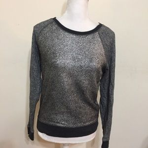 Express Gray Silver top Size XS Long Sleeves